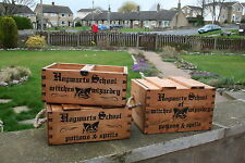 Hogwarts School Rustic Vintage Wood Storage Trug Boxes Crates Witches Wizardry