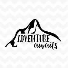 ADVENTURE AWAITS vinyl sticker decal words for wall window car bumper laptop