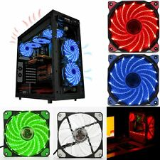 120mm LED Ultra Silent Computer PC Case Fan 15 LEDs 12V Easy Installed U2