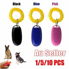 Dog Pet Click Clicker Training Obedience Agility Trainer Aid Wrist Strap AUU