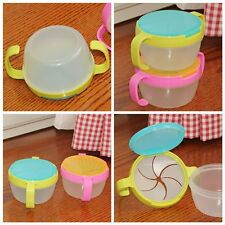 New Baby Toddler Anti-Spill Snack Active Snacker Bowl Cup No Spill Container 1Pc