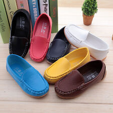 Hot Boys Girls Causal Oxford Flat Shoes Kids Baby Boat Shoes Sneakers Size UK4-9