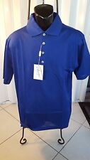 New Mens Ancona Golf Shirt Made In Italy Double Mercerized Egyptian Cotton