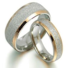 Free Engrave 18K Gold Filled Wedding Engagement Bands Titanium Rings Set 008EE