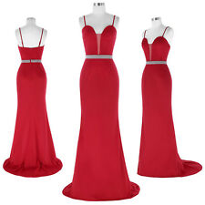 KK Sexy Ladies Floor-Length Spaghetti Straps Ball Gown Evening Prom Party Dress