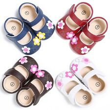 Toddler Baby Girls Soft PU Flowers Princess Shoes Infant Summer Sandals 0-18M