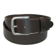 New CTM Men's Big & Tall Leather Removable Buckle Bridle Belt