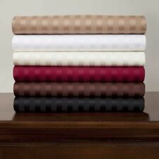 US Twin-ExtraLong Size Bedding Items 1000 TC Egyptian Cotton Solid/Stripe Colors