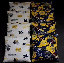 EMOJI University of MICHIGAN WOLVERINES 8 Cornhole Bean Bags ACA Regulation