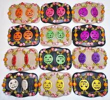 Double Magic Hair Combs, African Style Butterfly Clips,Halloween Jack-O-Lanterns