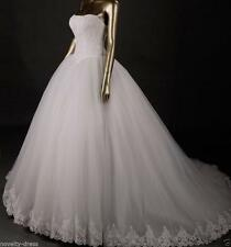 New tulle+Lace bride gown wedding dress custom size 2-4-6-8-10-12-14-16-18-20++