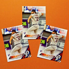 MICHAEL FULMER ROOKIE (3) Lot! 2016 TOPPS RC ROOKIE DEBUT TIGERS ROY SP HOT!