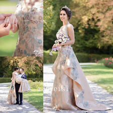 New Elegant Wedding Dress Custom Bridal Dresses Detachable Train Embroidery Gown
