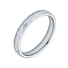 Bling Jewelry Multi faceted Tungsten Wedding Band Ring