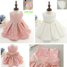 Toddler Baby Christening Party Birthday Prom Occasion Wedding Floral Girls Dress