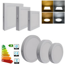 12W 18W 24W LED Surface Mounted Panel Ceiling Downlight Light Round Square/G4