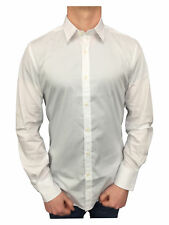 Gold Antony Morato Mens Super Slim Fitted Shirt in White XXL