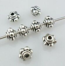 160/1500pcs Dainty Lantern Antique Silver Charm Spacer Beads Jewelry Findings