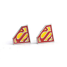 Stainless Steel Mens Wedding Party Gift Shirt Superman Hero Cuff Links Cufflinks