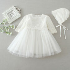 Floral Lace Christening Dress New Born Baby Christening Gown Ivory Baptism Dress