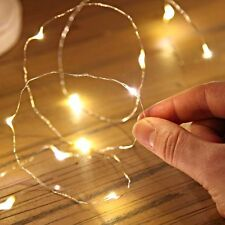 2/5/10M Button Battery Operated LED Copper Wire String Fairy Lights NEW