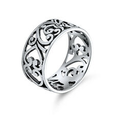 Bling Jewelry 925 Sterling Silver Filigree Band Ring