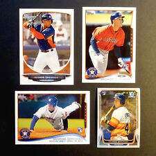 GEORGE SPRINGER ROOKIE (4) Lot 2013-14 TOPPS RC DEBUT w/CHROME & BOWMAN PROSPECT