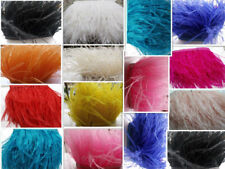 1 Yard Ostrich Feather Fringe Trim for Costume Sewing Crafts Millinery Decor