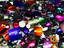 FLAT BACK ACRYLIC GEMS, CRAFTS JEWELS / ,GEMSTONES, EMBELLISHMENTS,CARD