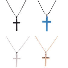 Men Cross Pendant Necklace Stainless Steel Link Chain Necklace Statement gt
