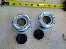 "(2) Trailer 2.44"" EZ Lube Grease Cover Dust Cap Plug Rubber Hub FREE SHIPPING!"