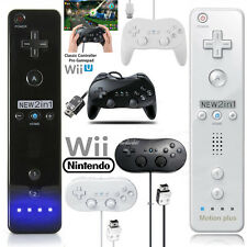 For Nintendo Wii U Wii Remote Controller Nunchuck Set Classic Controller Pro US