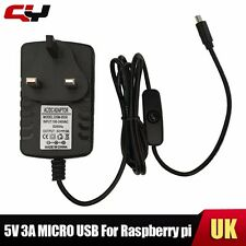 New UK  5V 3A Micro USB Power Adapter Charger For Raspberry Pi 2 3 Tablet PC