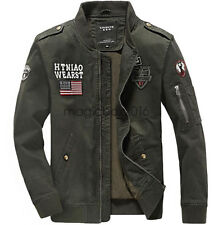 Mens Pilot X Flight Jacket Army Military Air Force One Jacket Bomber Flight Coat