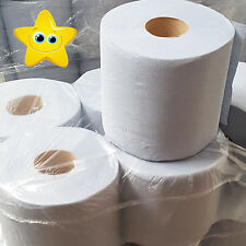NEW 6/12 BLUE ROLL 2PLY CENTREFEED ROLLS, PAPER HAND TOWELS, ABSORBANT, EMBOSSED