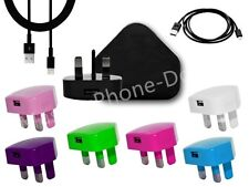 USB MAINS CHARGER PLUG USB LEAD CABLE FOR IPOD IPHONE 5 5S 5C 6 PLUS/CE GENUINE