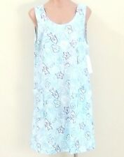 NEW 100% Cotton Sleeveless Sun Dress / Beach Cover Up w/ 2 Pockets -  Size L/XL