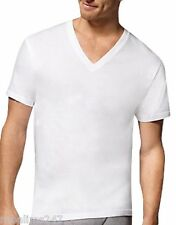 Hanes Mens Tagless V Neck ComfortSoft® Cotton White T-shirt Printable S M L XL