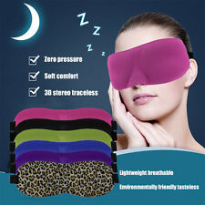 Soft Eye Mask Shade Ecellent Nap Cover Blindfold Sleeping Travel Rest A2
