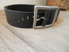 Genuine Leather Classic Mens Belt Casual Real Buckle Trouser Jeans Black Fashion