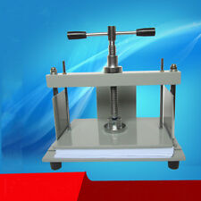 A4 Size Manual Flat Paper Press Machine for Nipping Vouchers, Books