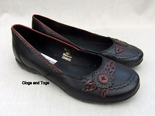 NEW CLARKS BRAMBLE WOMENS BLACK LEATHER SHOES SIZE 5.5 / 39
