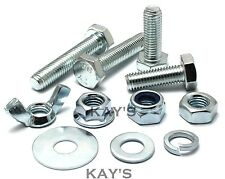 M8 HEXAGON SET SCREWS CHOOSE BOLTS NUTS OR WASHERS HIGH TENSILE 8.8 ZINC PLATED