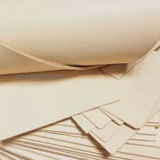 Blank Genuine Leather Cow Hide Veg Tan Natural Fabric for Wallet Purse Bag DIY