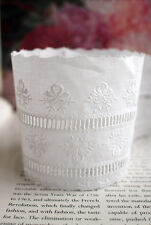 3yds, 5yds Embroidery eyelet cotton lace trim beautiful flower about 3.14inch