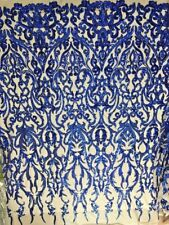 Fashion Sequined Fabric Mesh Lace Dress Gown Designer Fabric Bridal 51''/ Yard
