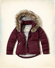 Abercrombie & Fitch – Hollister Womens Down Puffer Anorak Jacket XS Burgundy NWT