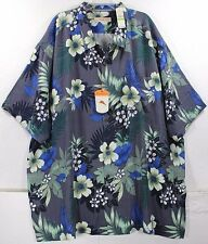 NWT Tommy Bahama Gaugantic Floral-Black 100% Silk Camp Shirt $138