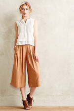 Anthropologie Kinney Culottes Size 4, Cropped Neutral Wide-Legs Pants Elevenses