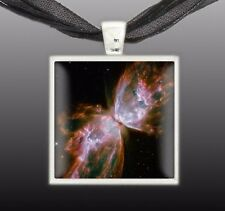 "Butterfly Nebula in the Constellation Scorpius Space 1"" Pendant Necklace ST"